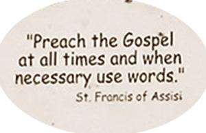 St Francis Misquote