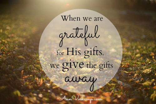 The Gift of Gratefulness