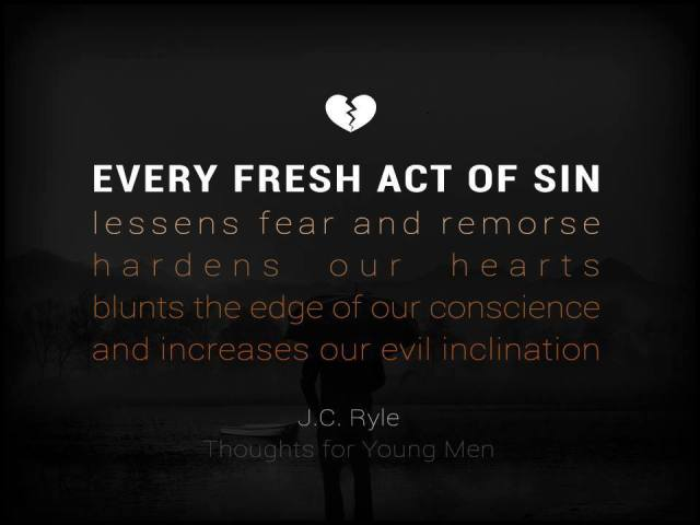 J.C. Ryle Quote on Sin